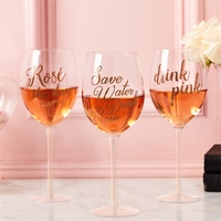 Two's Company Rose Wine Glass
