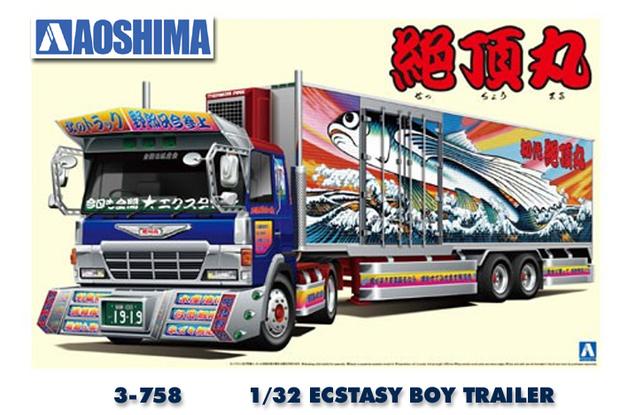 Aoshima: 1/32 Japanese Truckers - Ecstasy Boy - Model Kit