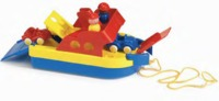 Viking Toys - Ferry Boat with 2 Cars and 2 Figures