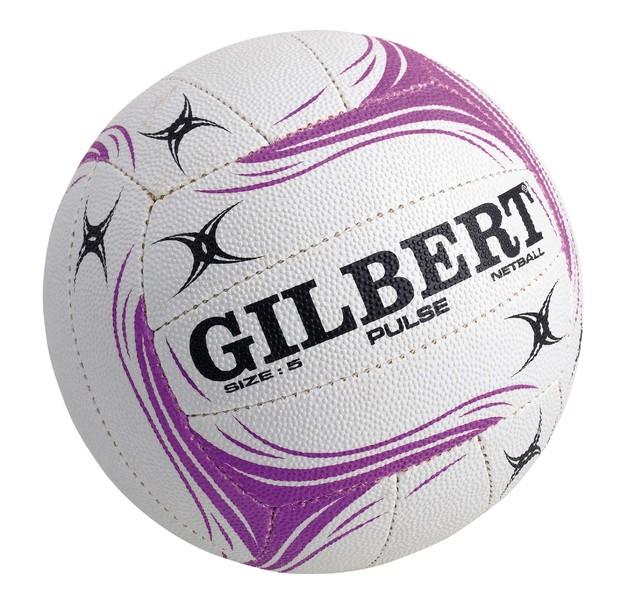 Gilbert Pulse Netball-White (Size 4)