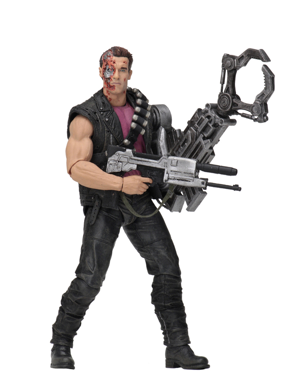 "Terminator: Power Arm T-800- 7"" Kenner Tribute Action Figure"