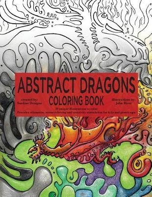 Abstract Dragons Coloring Book by Sardine Designs Coloring Books