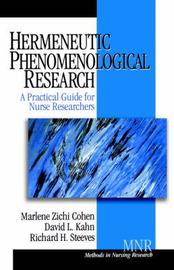 Hermeneutic Phenomenological Research by Marlene Zichi Cohen image