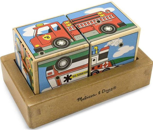 Melissa & Doug: Vehicles Sound Blocks