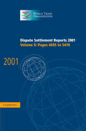 Dispute Settlement Reports 2001: Volume 10, Pages 4695-5478
