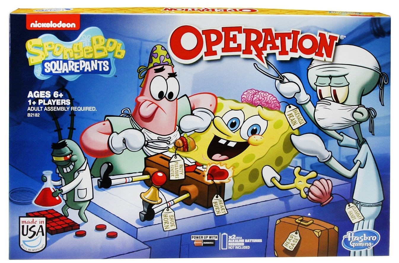 SpongeBob SquarePants - Operation Game | Toy | at Mighty ...