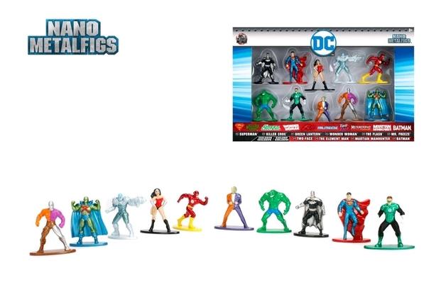 Jada Metal Minis: DC Comics - Nano Metalfigs 10-Pack