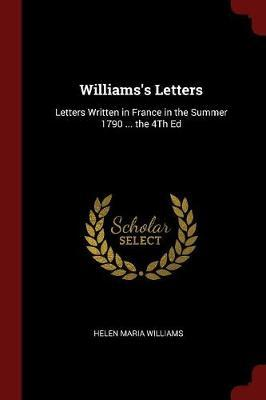 Williams's Letters by Helen Maria Williams image