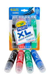 Crayola: Project - XL Poster Markers (Classic Colours/4-Pack)