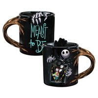 Nightmare Before Christmas Sculpted Heat Reactive Ceramic Mug (Jack and Sally, 20 oz)