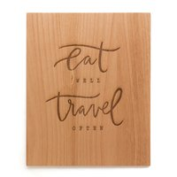 Cardtorial Print - Eat Well Travel Often image