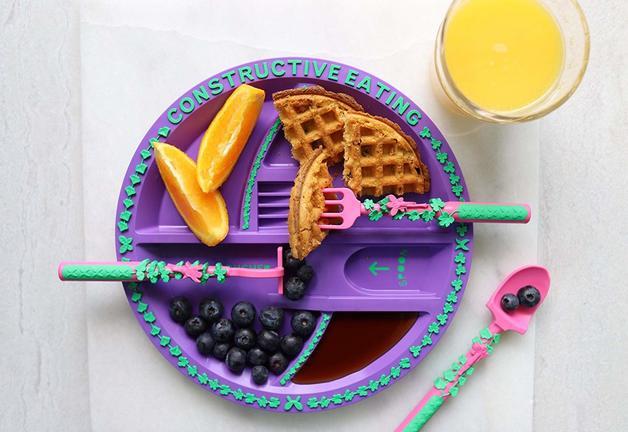 Constructive Eating - Garden Fairy Plate