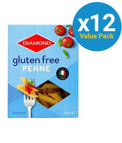 Diamond: Gluten Free Penne 250g (12 Box Value Pack)