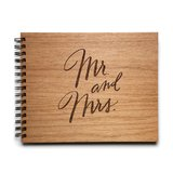 Cardtorial Wooden Guestbook - Mr. & Mrs.