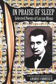 In Praise of Sleep by Lucian Blaga
