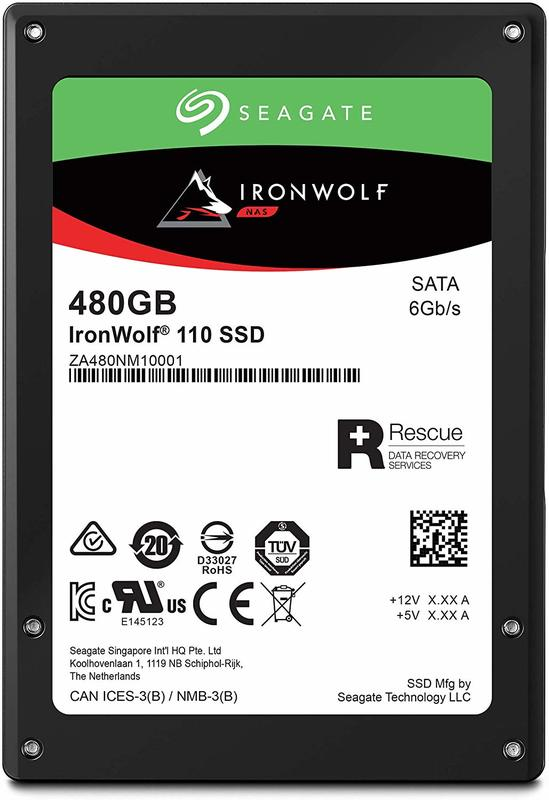 "480GB Seagate IronWolf 110 2.5"" SATA NAS SSD"