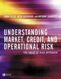 Understanding Market, Credit, and Operational Risk by Linda Allen image