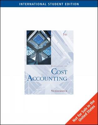 Cost Accounting by Edward J Vanderbeck