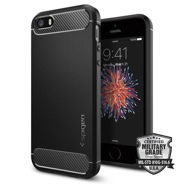 Spigen: iPhone SE/5s/5 Rugged Armour Case - (Black)