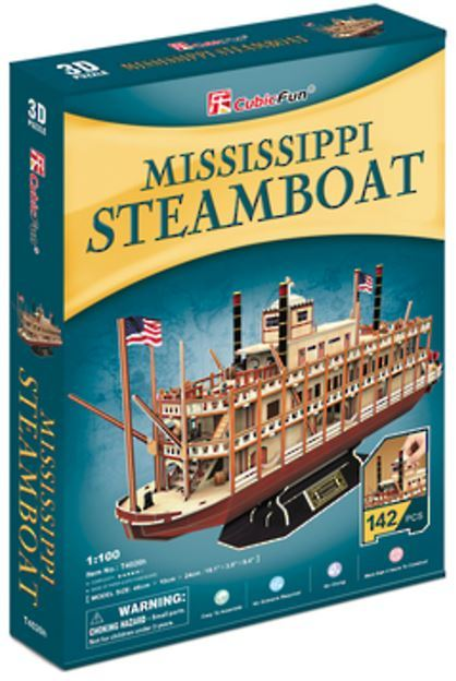 Cubic Fun: - Mississippi Steamboat - 142 Piece 3D Puzzle image