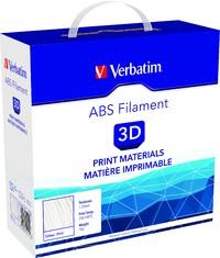 Verbatim 3D Printer ABS 1.75mm Filament - 1kg (White) image