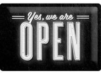 Nostalgic Art: Tin Sign - Yes, Open