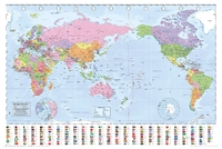 World Map Pacific Centralised Wall Poster (41)