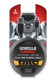 Gorilla Gaming Play and Charge Cable (PS4 & Xbox One) for PS4