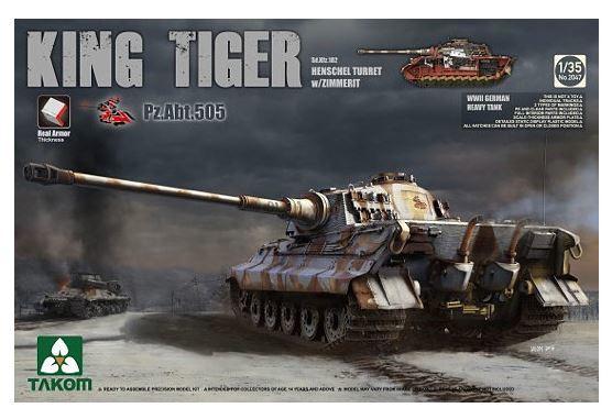 Takom 1/35 King Tiger Henchel Turret A.B.T 505 Model Kit image