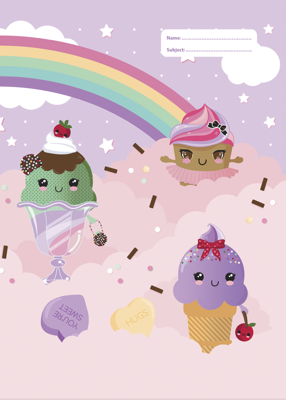 Spencil: Everyday Is Sundae Scrapbook Size Book Cover - Assorted (Pack 3)