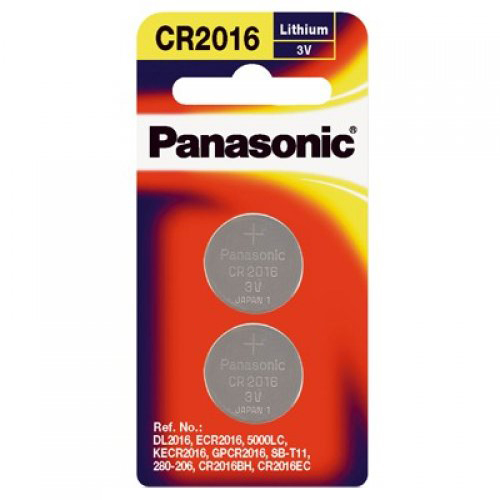 Panasonic Lithium 3V Coin Cell Battery CR2016 - 2 Pack
