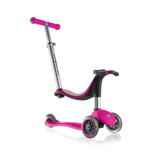 Globber: Evo 4in1 - 3 Wheel Scooter (Pink)