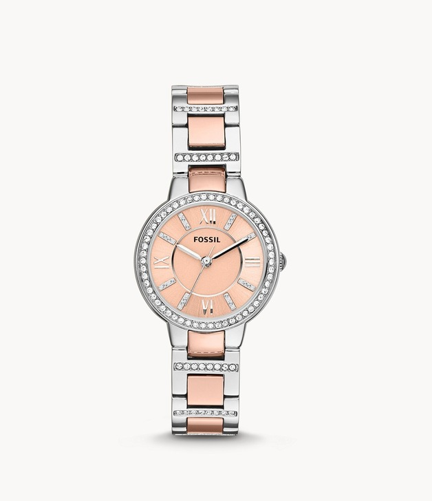Fossil: Virginia Watch - Rose Gold/Silver