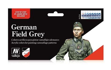 Vallejo German Field Grey Paint Set