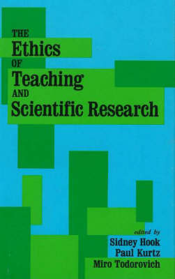 The Ethics Of Teaching And Scientific Research by Sidney Hook image
