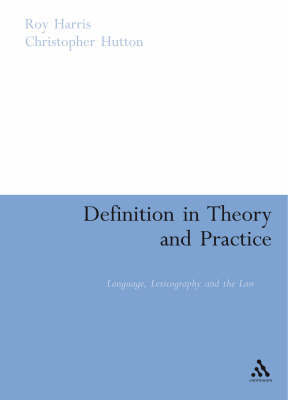 Definition in Theory and Practice by Roy Harris image