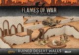 Flames of War - Ruined Desert Walls (x10)