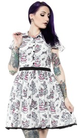Sourpuss Creep Heart Lydia Dress (XX-Large)