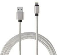 IS Gifts: Pu Leather Charging Cable - 8-Pin Lightning (White)