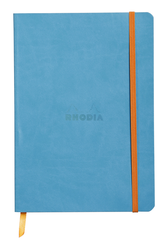 Rhodiarama A5 Softcover Notebook Dot Grid - Turquoise