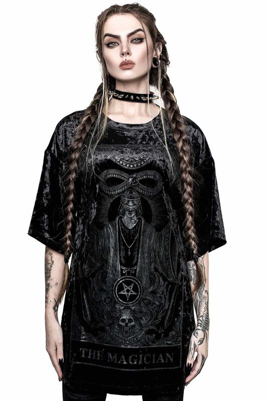 Killstar: Magician Velvet B/F Tee - Black (L)