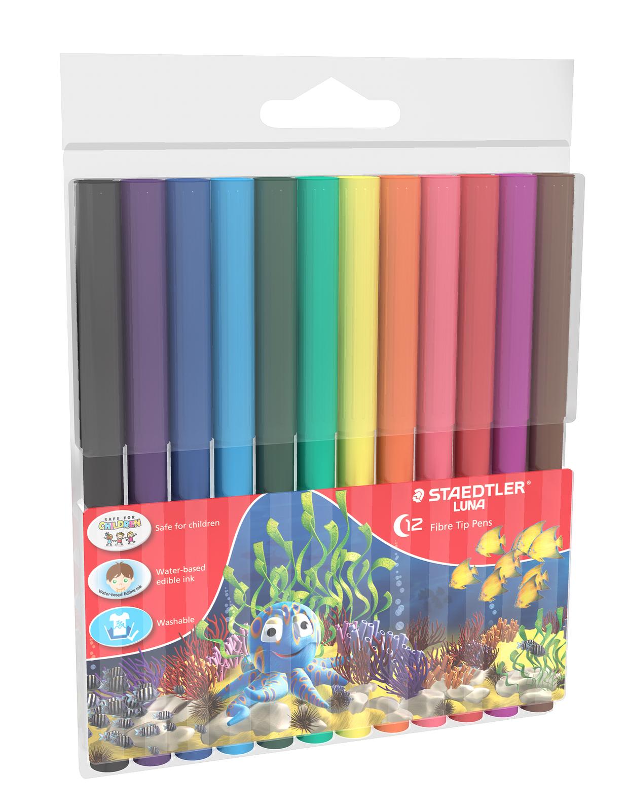 Luna - Fibre Tip Pens: 2mm 12 Pack image