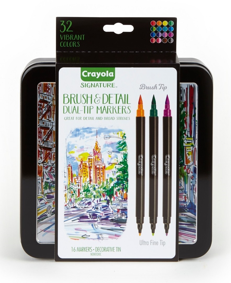 Crayola: Signature - Brush & Detail Dual Ended Markers (16pc) image