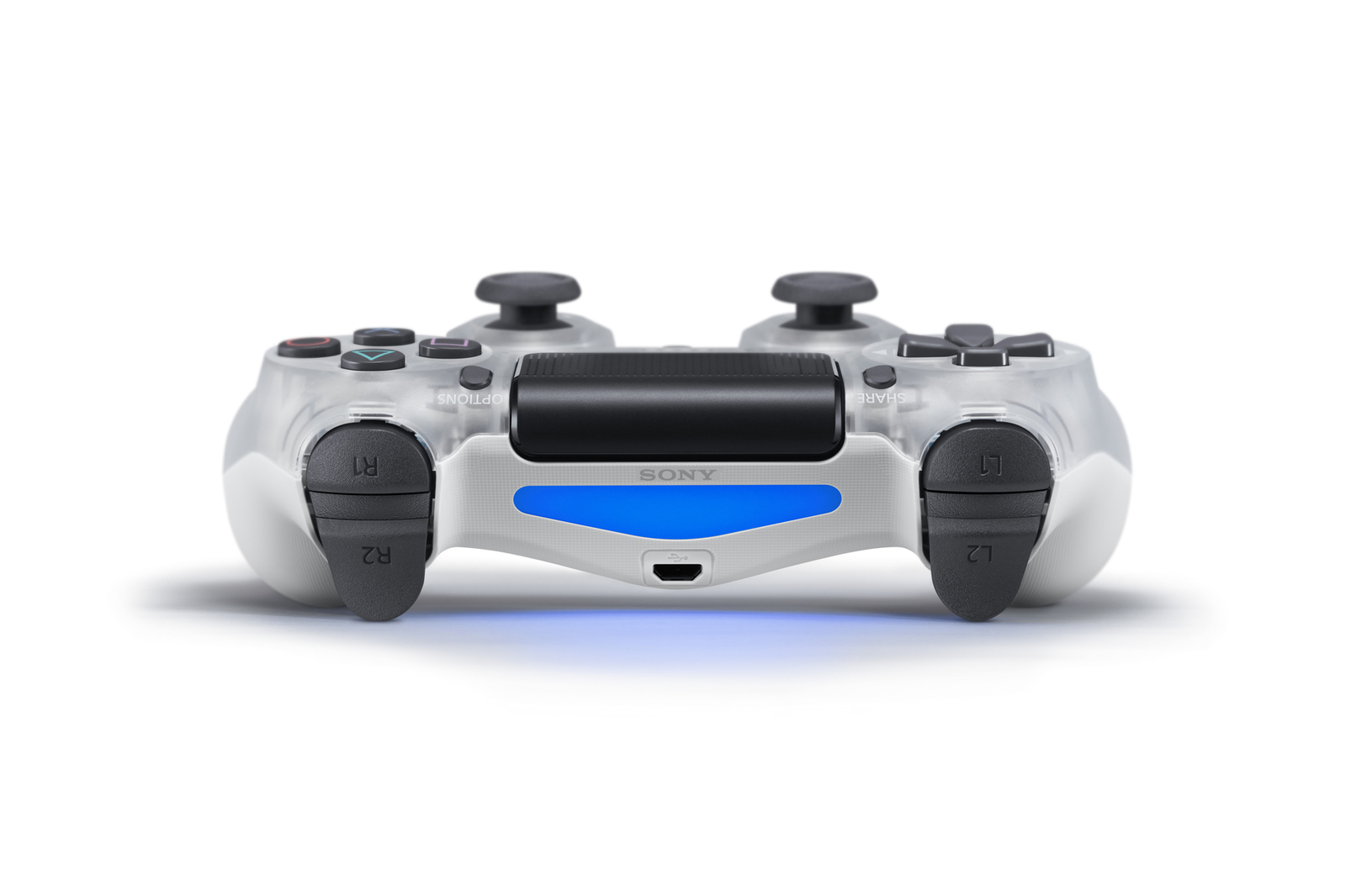 PlayStation 4 Dual Shock 4 V2 Wireless Controller - Crystal for PS4 image