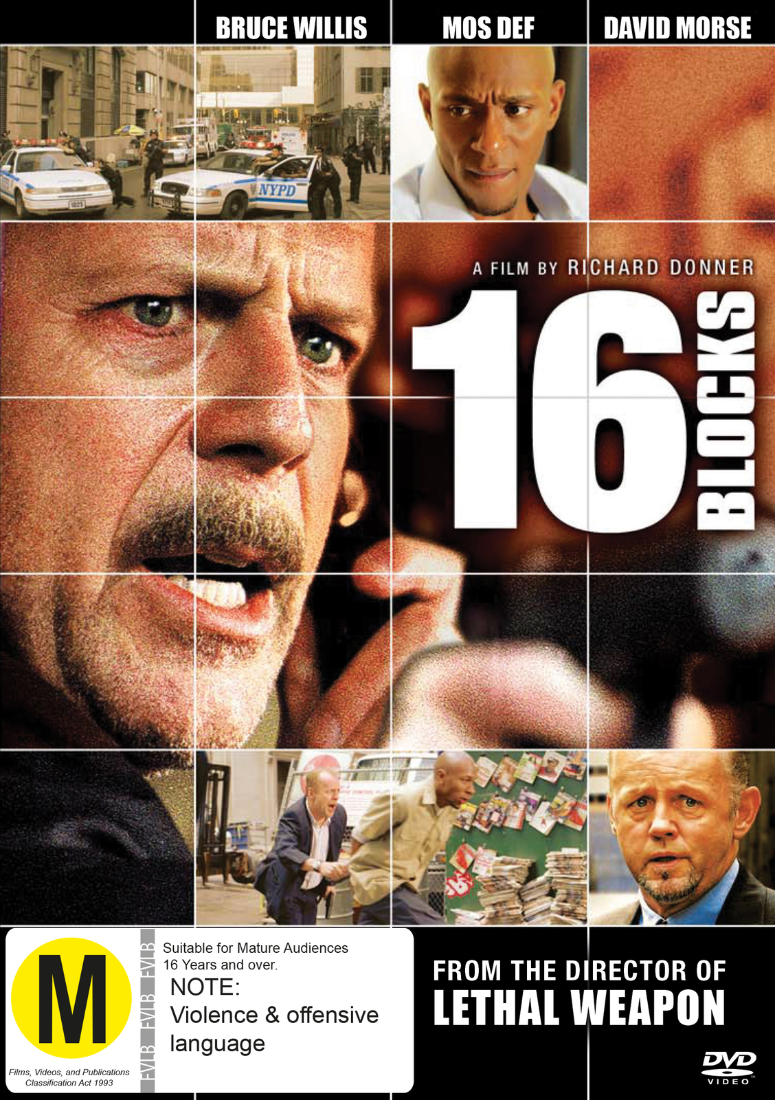 16 Blocks on DVD image