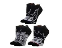 Disney: Monochrome Villains - Junior Socks (3-Pack)
