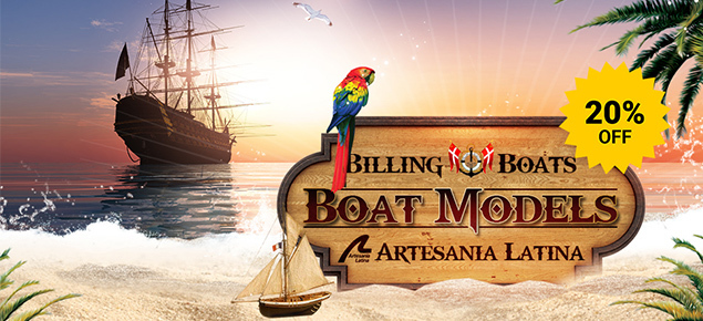 Save 20% off Artesania Latina & Billing Boats!