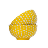 General Eclectic Cross Bowl - Yellow