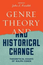 Genre Theory and Historical Change by Ralph Cohen image