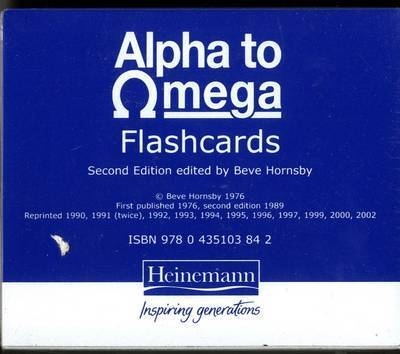 Alpha to Omega: A. to Z. of Teaching Reading, Writing and Spelling: Flashcards by Beve Hornsby